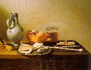 Pieter Claesz Pipes and Brazier oil