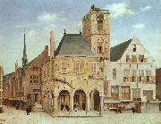 Pieter Jansz Saenredam The Old Town Hall in Amsterdam oil