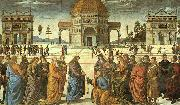 Pietro Perugino Christ Delivering the Keys to St.Peter oil painting picture wholesale