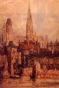 Richard Parkes Bonington Rouen from the Quais oil painting artist