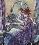 Robert Reid The Violet Kimino oil painting picture wholesale