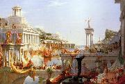 Thomas Cole Course of Empire Consumation of  Empire oil painting picture wholesale