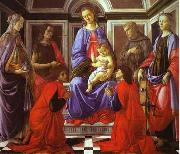 Sandro Botticelli Madonna and Child with Six Saints oil painting picture wholesale
