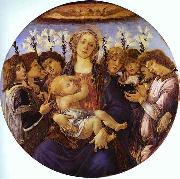 Sandro Botticelli Madonna and Child with Eight Angels oil painting picture wholesale