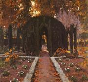 Santiago Rusinol Prats La Glorieta(Aranjuez) oil painting picture wholesale