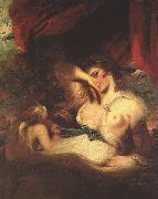 Sir Joshua Reynolds Cupid Unfastens the Belt of Venus oil painting artist