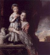 Sir Joshua Reynolds The Countess Spencer with her Daughter Georgina oil painting artist