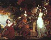 Sir Joshua Reynolds Ladies Adorning a Term of Hymen oil painting artist