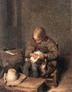 TERBORCH, Gerard Boy Ridding his Dog of Fleas sg oil painting picture wholesale