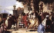 TIEPOLO, Giovanni Domenico Ball in the Country sg oil painting artist