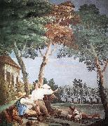 TIEPOLO, Giovanni Domenico Peasants at Rest r oil painting artist