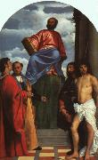 TIZIANO Vecellio St. Mark Enthroned with Saints t oil painting picture wholesale