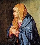 TIZIANO Vecellio Mater Dolorosa (with clasped hands) wt oil painting picture wholesale