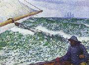 Theo Van Rysselberghe Man at the Helm oil painting artist
