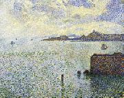 Theo Van Rysselberghe Sailboats and Estuary oil painting artist