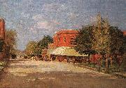 Theodore Clement Steele Street Scene oil painting picture wholesale