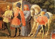 UCCELLO, Paolo Adoration of the Magi (Quarate predella, detail) qt oil painting picture wholesale