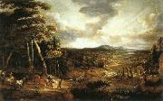 UDEN, Lucas van Landscape with the Flight into Egypt  wt oil painting picture wholesale
