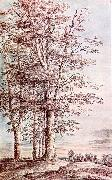 UDEN, Lucas van Landscape with Tall Trees dg oil painting artist