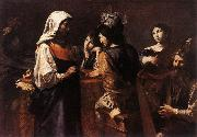 VALENTIN DE BOULOGNE The Fortune Teller  kj oil painting picture wholesale