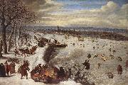 VALKENBORCH, Lucas van View of Antwerp with the Frozen Schelde tg oil painting picture wholesale