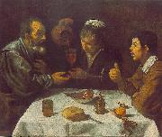 VELAZQUEZ, Diego Rodriguez de Silva y Peasants at the Table (El Almuerzo) r oil painting picture wholesale