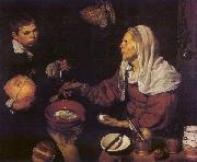 VELAZQUEZ, Diego Rodriguez de Silva y Old Woman Poaching Eggs et oil painting picture wholesale