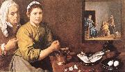 VELAZQUEZ, Diego Rodriguez de Silva y Christ in the House of Mary and Marthe r oil painting picture wholesale