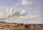VELDE, Adriaen van de The Beach at Scheveningen wr oil painting picture wholesale
