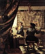 VERMEER VAN DELFT, Jan The Art of Painting er oil painting picture wholesale