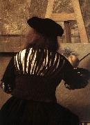 VERMEER VAN DELFT, Jan The Art of Painting (detail) eqt oil painting picture wholesale