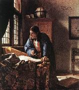 VERMEER VAN DELFT, Jan The Geographer qr oil painting picture wholesale