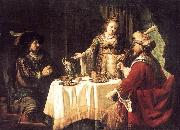 VICTORS, Jan The Banquet of Esther and Ahasuerus esrt oil painting artist