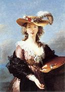 VIGEE-LEBRUN, Elisabeth Self-Portrait in a Straw Hat r oil painting picture wholesale