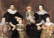 VOS, Cornelis de The Family of the Artist  jg oil painting artist