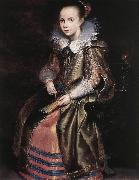 VOS, Cornelis de Elisabeth (or Cornelia) Vekemans as a Young Girl re oil painting artist