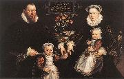 VOS, Marten de Portrait of Antonius Anselmus, His Wife and Their Children wr oil painting picture wholesale