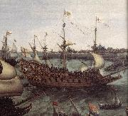 VROOM, Hendrick Cornelisz. The Arrival at Vlissingen of the Elector Palatinate Frederick V (detail) ar oil painting picture wholesale