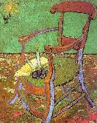 Vincent Van Gogh Gauguin's Chair with Books and Candle Germany oil painting reproduction