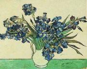 Vincent Van Gogh Vase with Irises oil painting picture wholesale