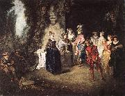 WATTEAU, Antoine The French Comedy oil painting picture wholesale