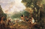 WATTEAU, Antoine The Embarkation for Cythera oil painting picture wholesale