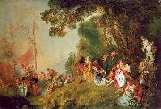 WATTEAU, Antoine Pilgrimage to Cythera1 oil painting picture wholesale