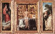 WEYDEN, Goossen van der Triptych of Abbot Antonius Tsgrooten oil painting picture wholesale