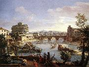 WITTEL, Caspar Andriaans van The Castel Sant Angelo from the South oil