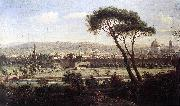 WITTEL, Caspar Andriaans van View of Florence from the Via Bolognese oil