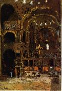 Walter Sickert Interior of St Mark's, Venice oil painting artist