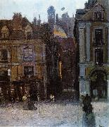 Walter Sickert The Quai Duquesne and the Rue Notre Dame, Dieppe oil painting artist
