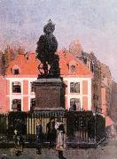 Walter Sickert The Statue of Duquesne, Dieppe oil painting artist