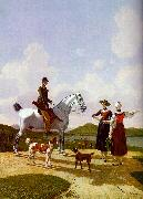 Wilhelm von Kobell Riders on Lake Tegernsee oil painting artist